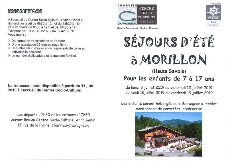 Séjour d'été à Morillon