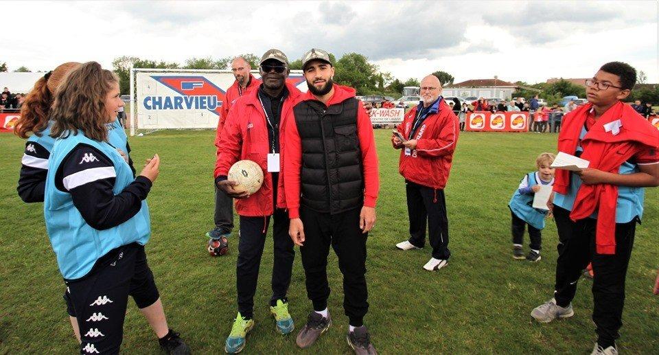 Beau succès pour la Journée FOOT avec les joueurs de l'Olympique Lyonnais