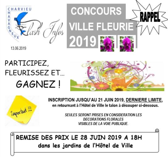 Concours ville fleurie 2019