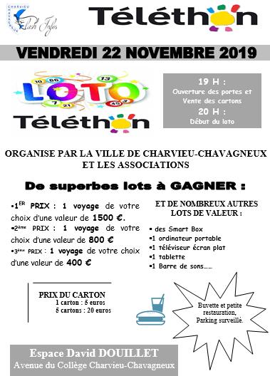 Loto du Téléthon le vendredi 22 novembre à l'Espace David Douillet