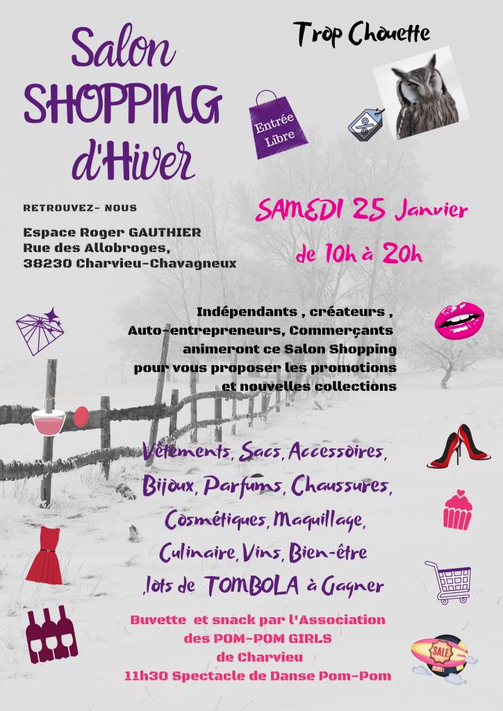 Salon Shopping d'Hiver le samedi 25 janvier à l'Espace Roger Gauthier