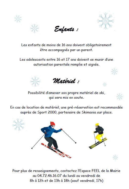 Sorties ski : 4 sorties proposées en février et mars 2020