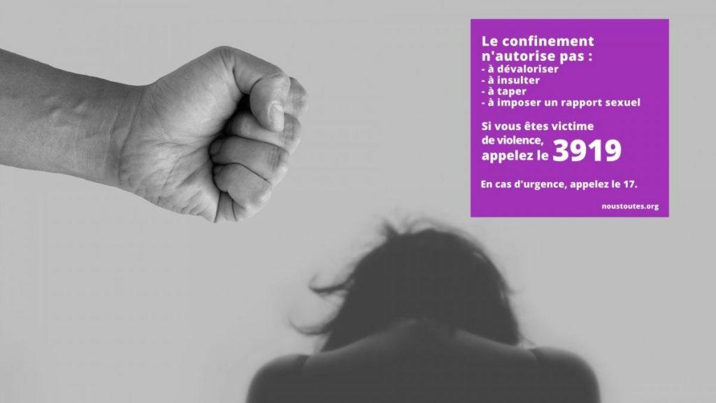 CONFINEMENT : AGIR CONTRE LES VIOLENCES A L'ENCONTRE DES FEMMES ET DES ENFANTS