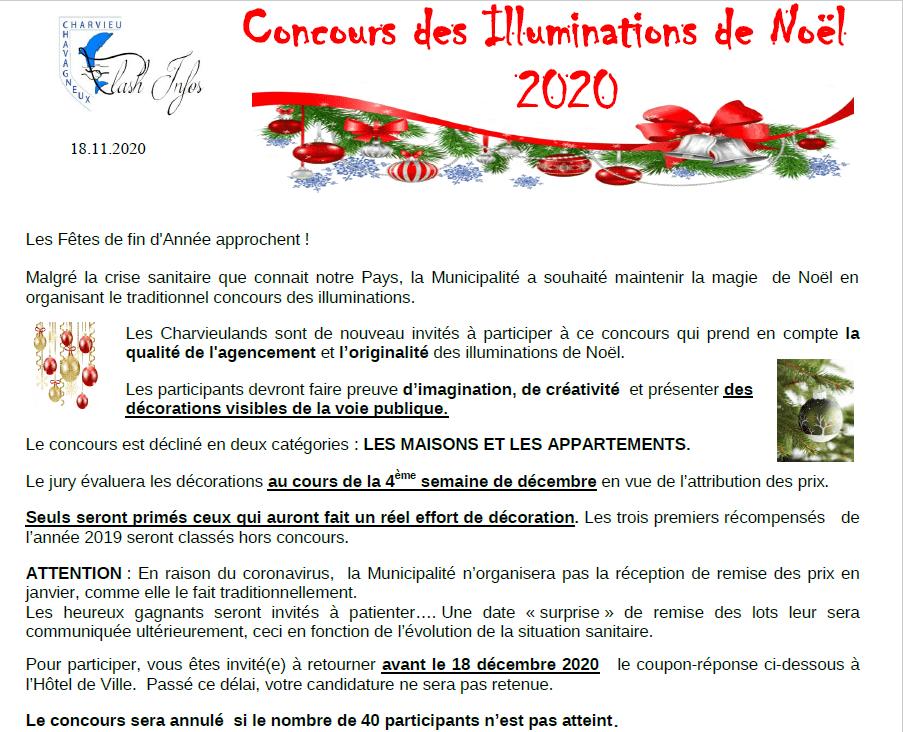 Concours des illuminations de Noël 2020