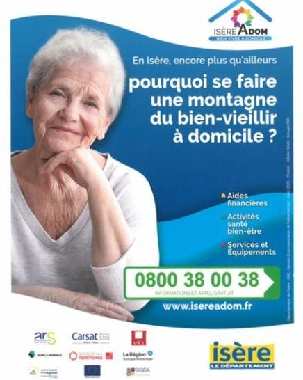Isère Adom : le Conseil Départemental vous accompagne pour le bien vieillir à domicile